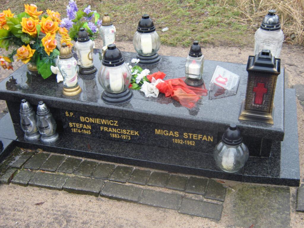 Stefan Migas - cmentarz parafialny we Wrześni (zdjęcie udostępnił Remigiusz Maćkowiak)