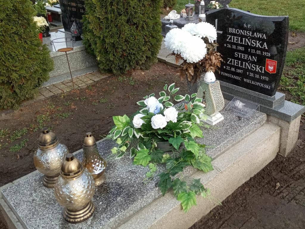 Stefan Zieliński - cmentarz parafialny we Wrześni (zdjęcie udostępnił Remigiusz Maćkowiak)