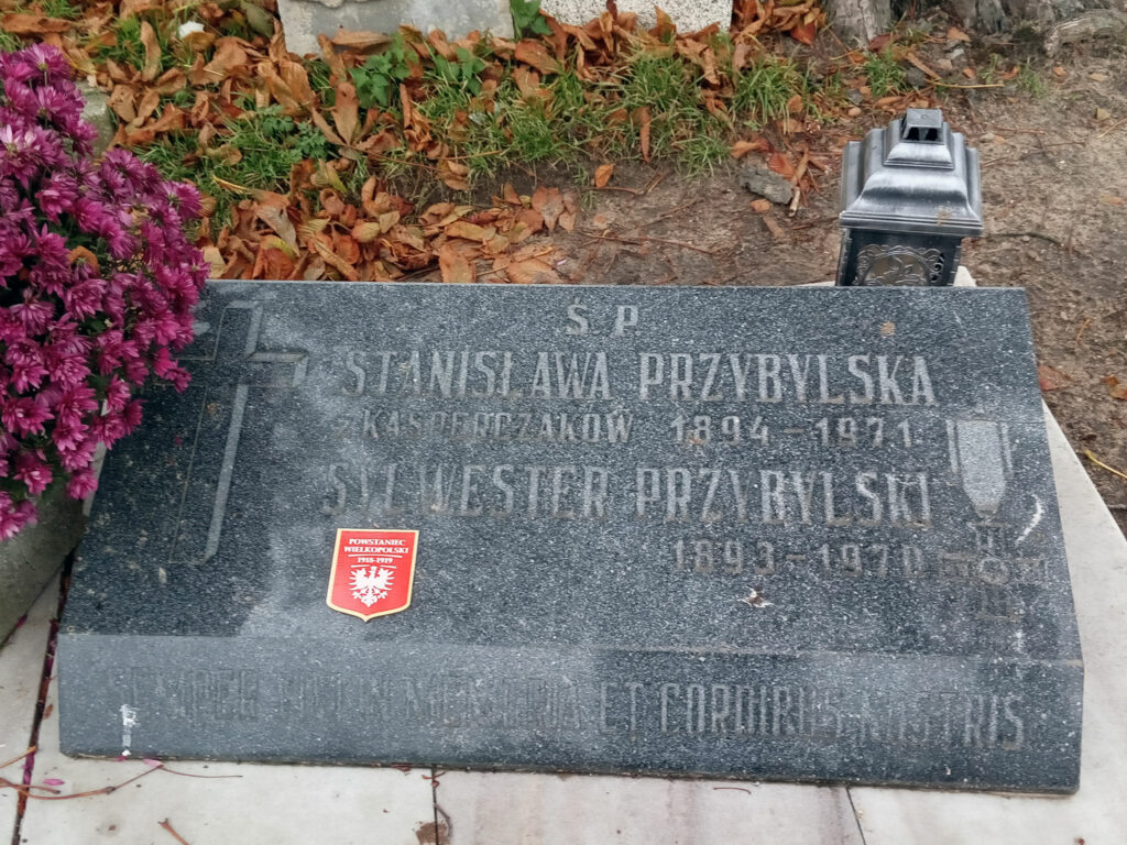 Sylwester Przybylski - cmentarz parafialny we Wrześni (zdjęcie udostępnił Remigiusz Maćkowiak)