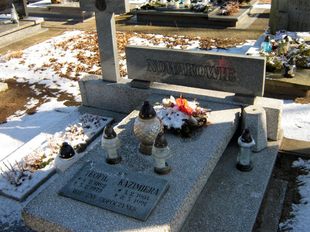 Teofil Nowak - cmentarz komunalny we Wrześni (zdjęcie udostępnił Remigiusz Maćkowiak)