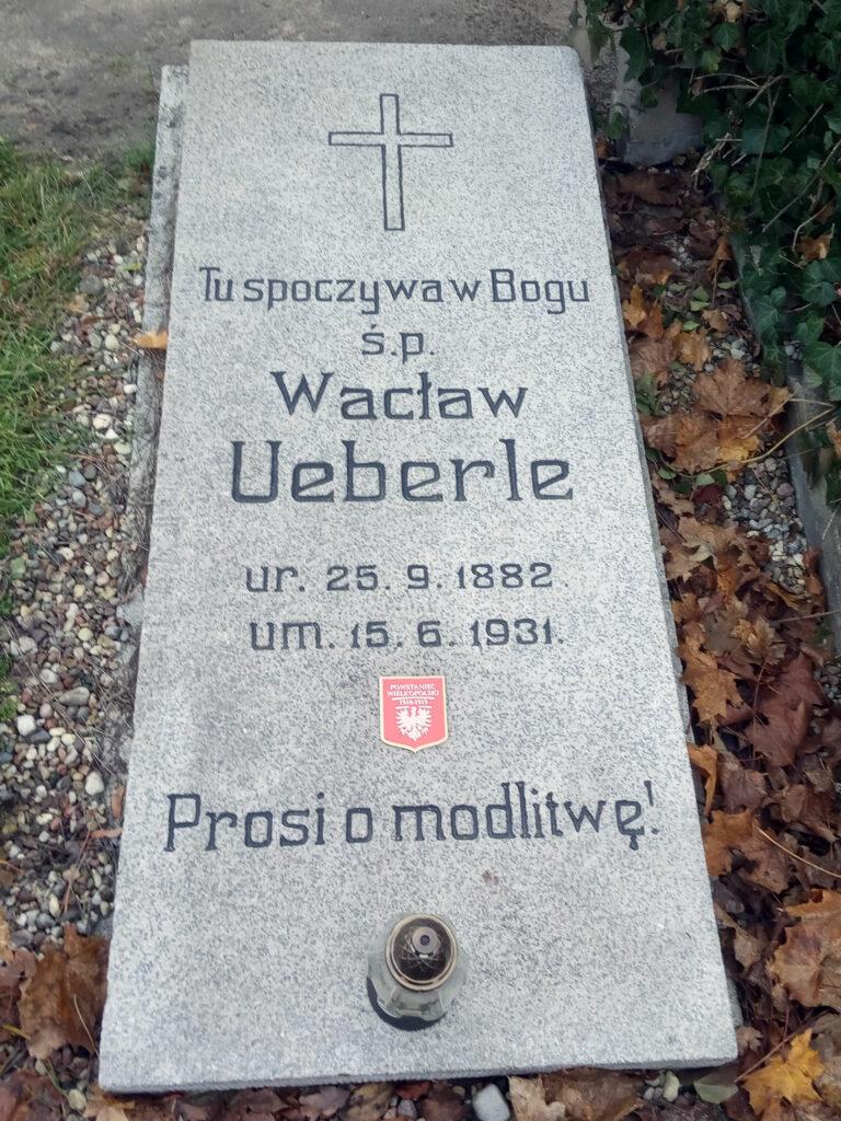Wacław Ueberle - cmentarz parafialny we Wrześni (zdjęcie udostępnił Remigiusz Maćkowiak)