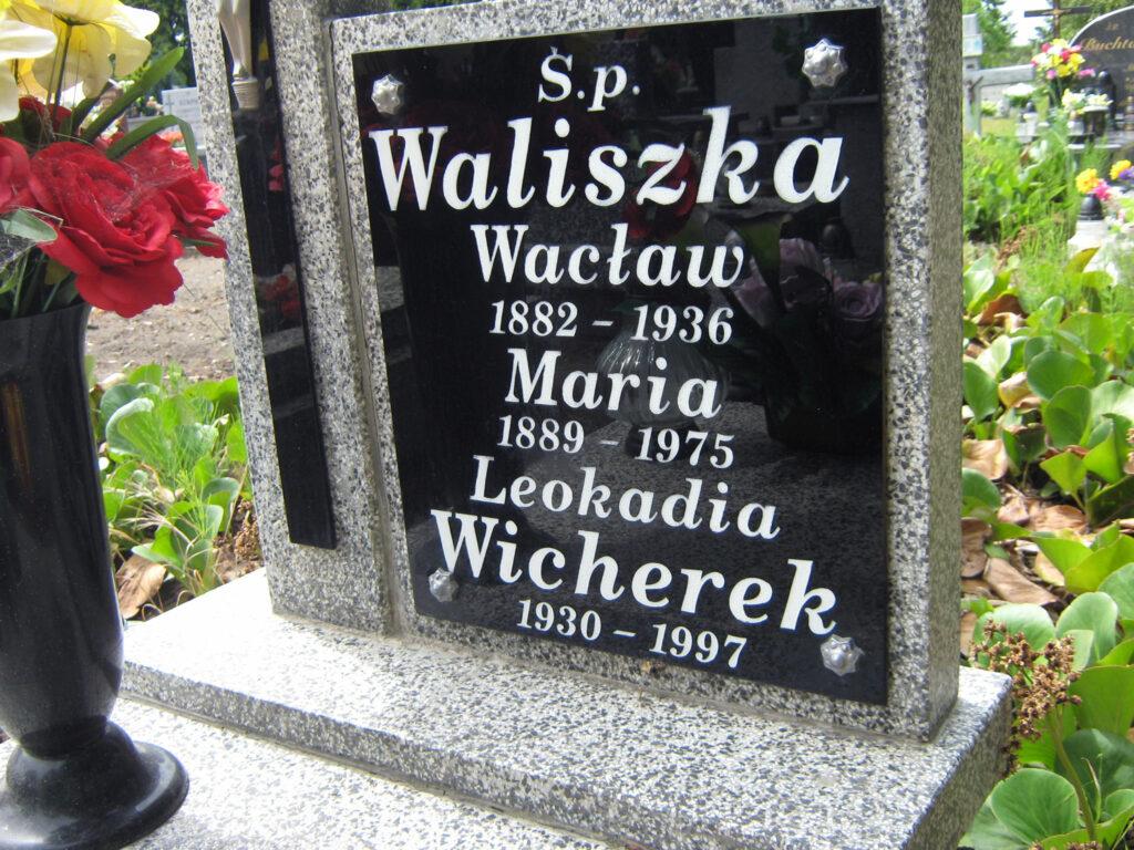 Wacław Waliszka - cmentarz w Grodziszczku (zdjęcie Remigiusz Maćkowiak)