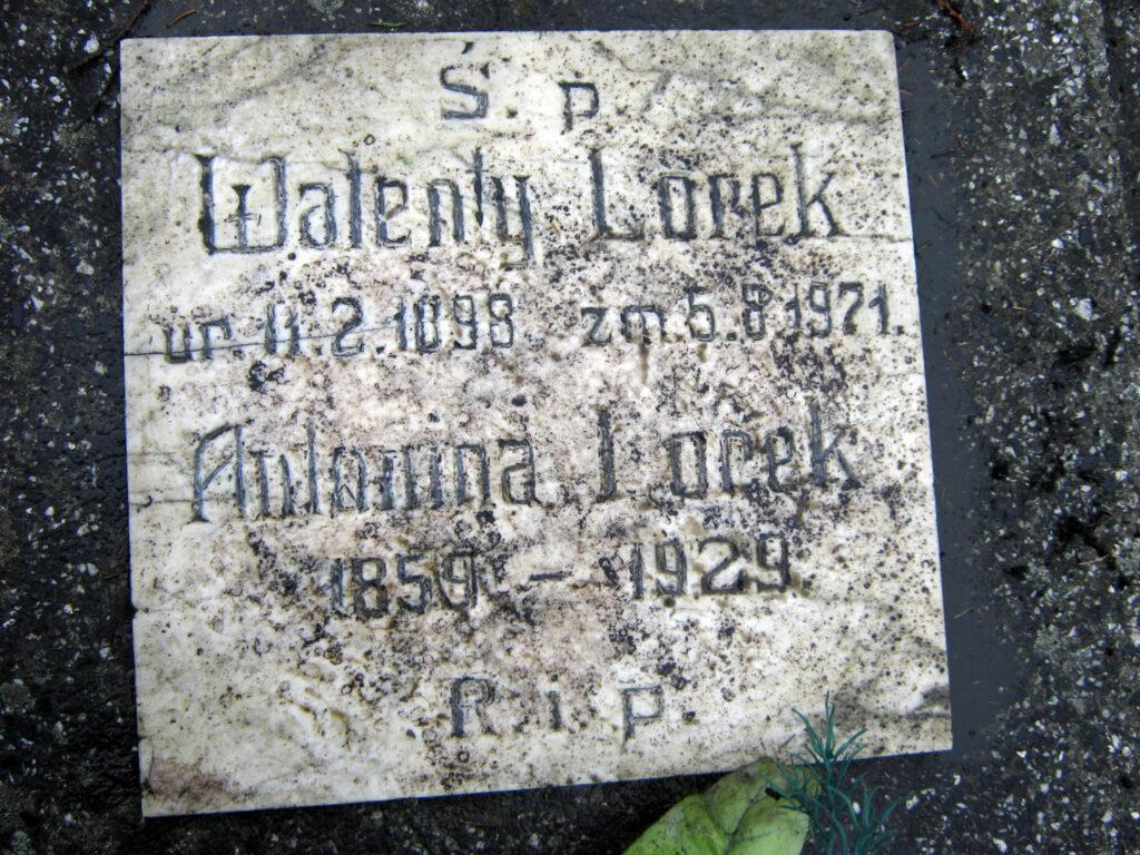 Walenty Lorek - cmentarz parafialny we Wrześni (zdjęcie udostępnił Remigiusz Maćkowiak)