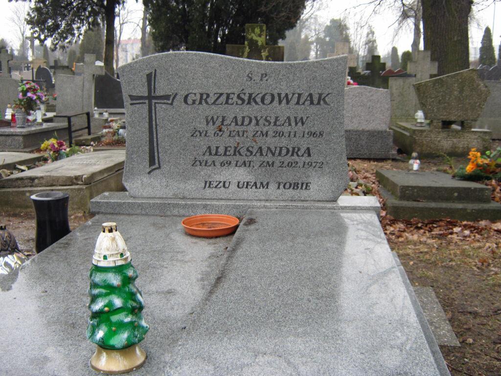 Władysław Grześkowiak - cmentarz parafialny we Wrześni (zdjęcie udostępnił Remigiusz Maćkowiak)