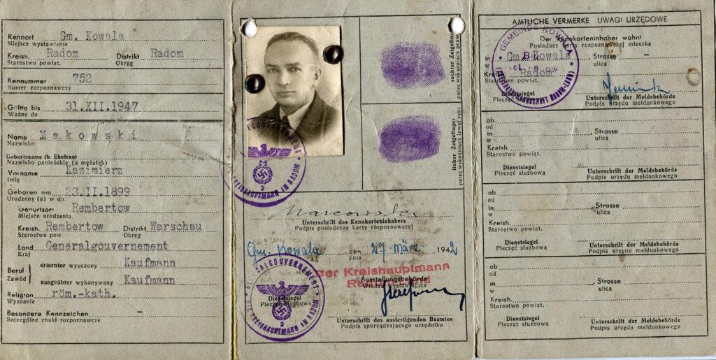 Władysław Kubiak - fałszywe dokumenty (dokument udostępnił Remigiusz Maćkowiak)