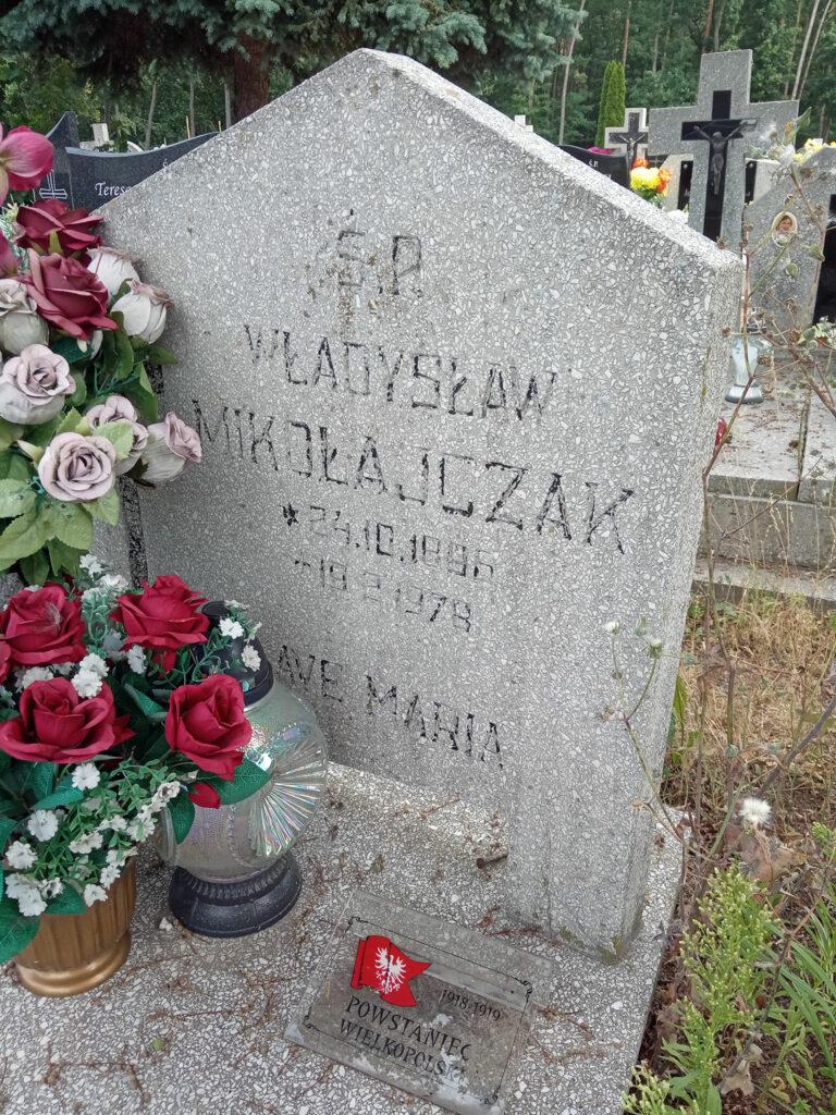 Władysław Mikołajczak - cmentarz komunalny we Wrześni (zdjęcie udostępnił Remigiusz Maćkowiak)