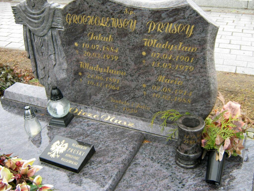 Władysław Pruski - cmentarz parafialny we Wrześni (zdjęcie udostępnił Remigiusz Maćkowiak)