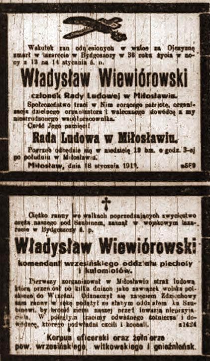Wiewiórowski Władysław - Kurier Poznański nr 15 z dnia 1919.01.19