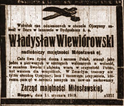 Wiewiórowski Władysław - Kurier Poznański nr 14 z dnia 1919.01.18
