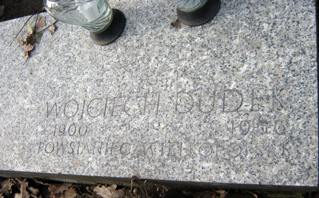 Wojciech Dudek - cmentarz parafialny we Wrześni (zdjęcie udostępnił Remigiusz Maćkowiak)