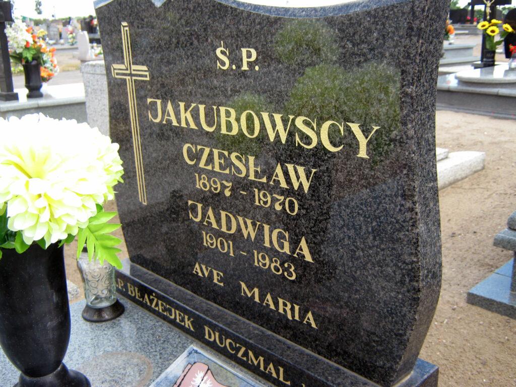 Czesław Jakubowski - cmentarz parafialny w Kaczanowie (zdjęcie udostępnił Remigiusz Maćkowiak)