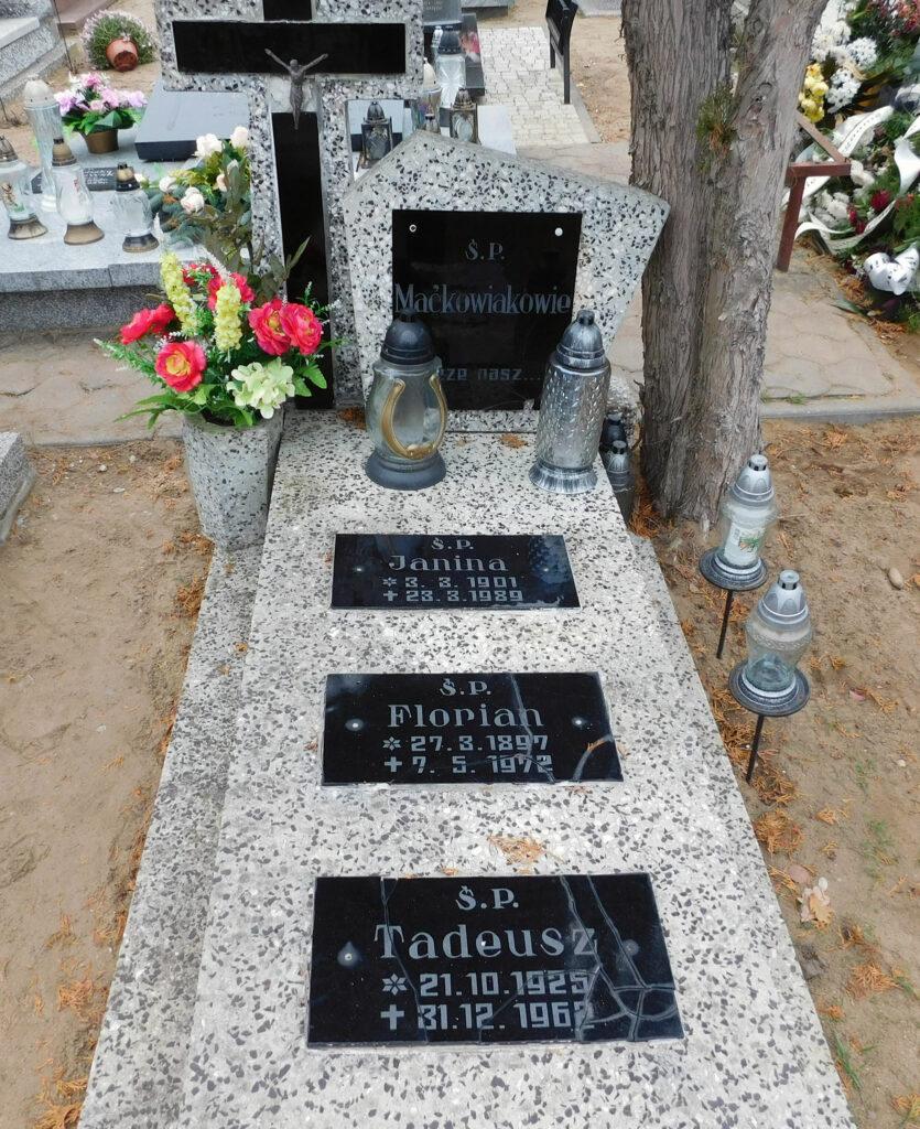Florian Maćkowiak - cmentarz komunalny we Wrześni (zdjęcie udostępnił Remigiusz Maćkowiak)