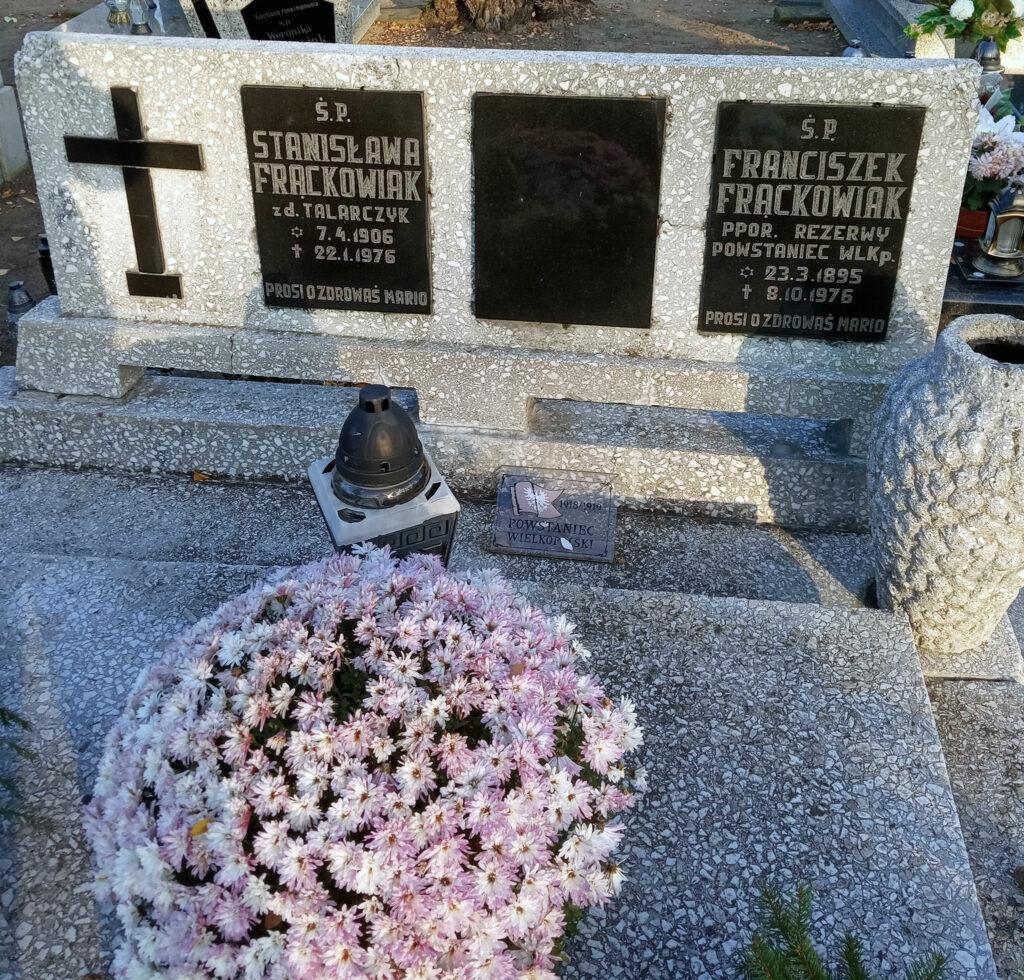 Franciszek Frąckowiak - cmentarz komunalny we Wrześni (zdjęcie udostępnił Remigiusz Maćkowiak)