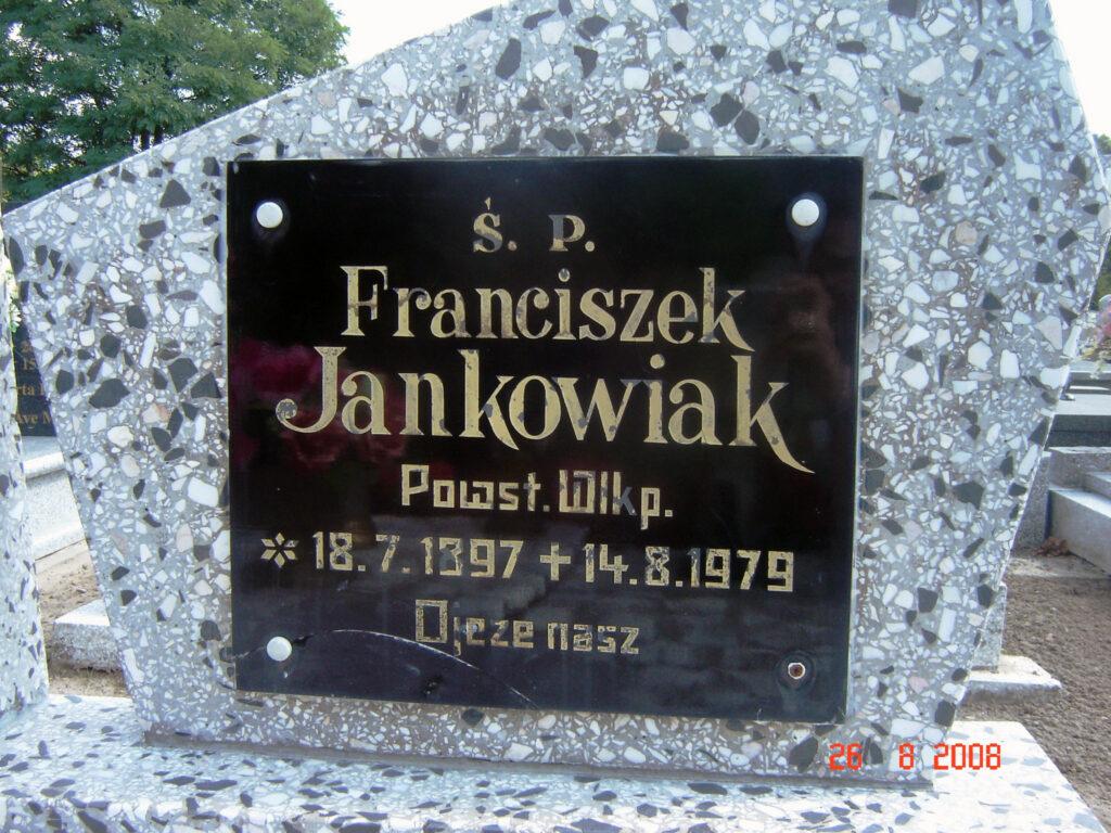 Franciszek Jankowiak - cmentarz w Kołaczkowie (zdjęcie udostępnił Remigiusz Maćkowiak)