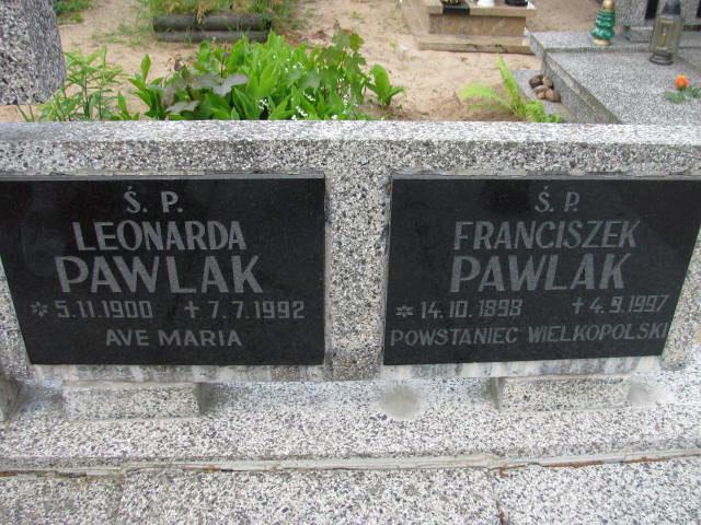 Franciszek Pawlak - cmentarz komunalny we Wrześni.