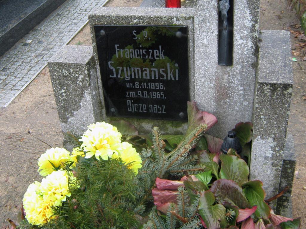 Franciszek Szymański - cmentarz parafialny we Wrześni (zdjęcie udostępnił Remigiusz Maćkowiak)