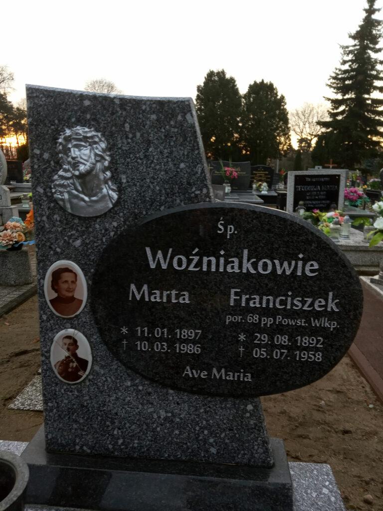 Franciszek Woźniak - cmentarz komunalny we Wrześni (zdjęcie udostępnił Remigiusz Maćkowiak)