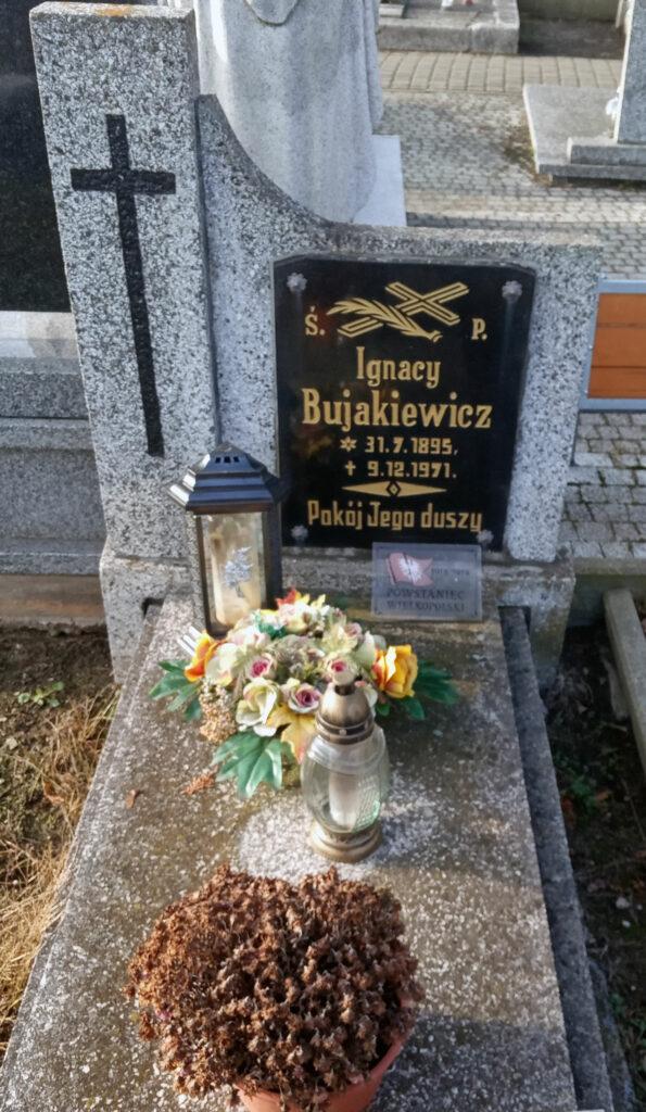 Ignacy Bujakiewicz - cmentarz parafialny we Wrześni (zdjęcie udostępnił Remigiusz Maćkowiak)