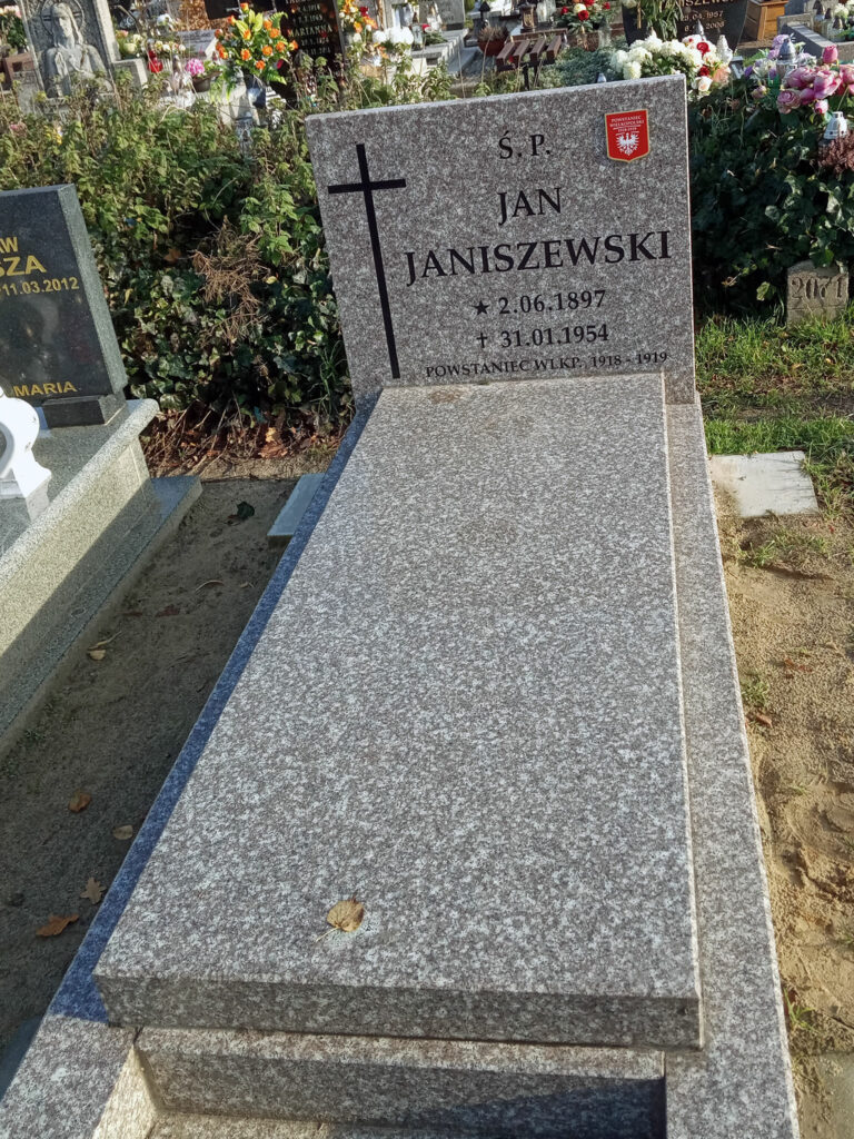 Jan Janiszewski - cmentarz parafialny we Wrześni (zdjęcie udostępnił Remigiusz Maćkowiak)