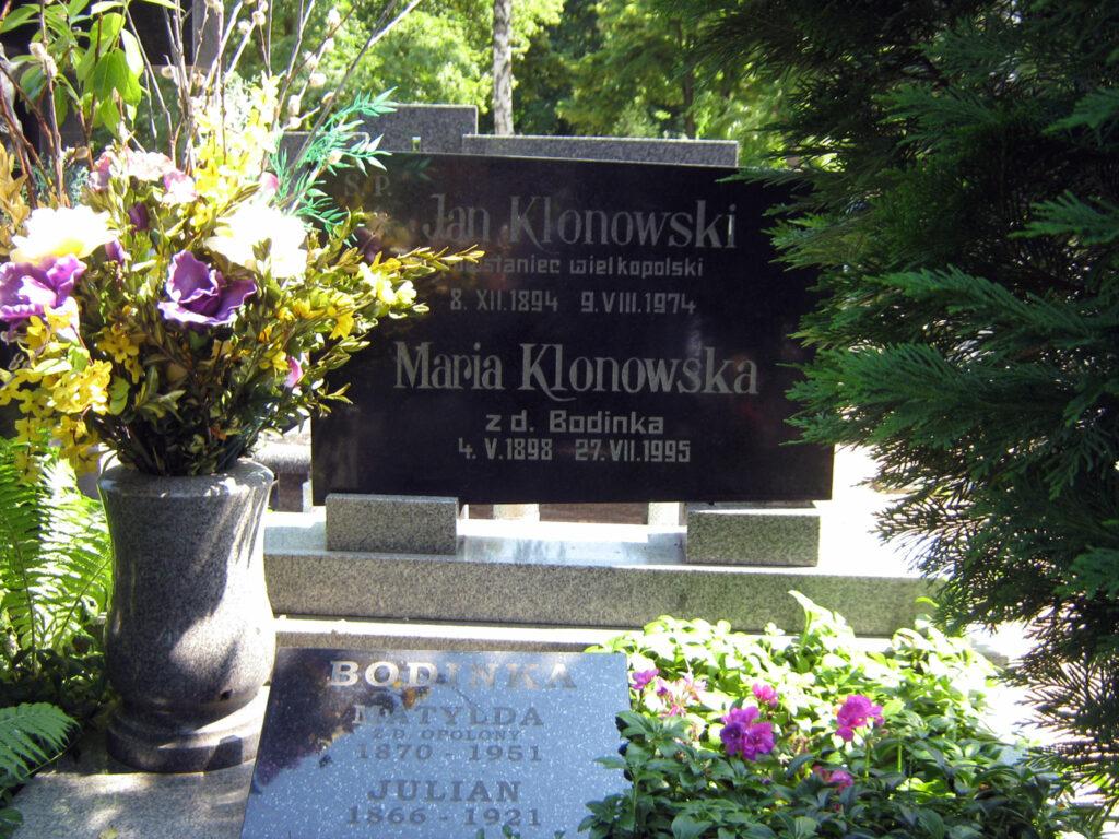 Jan Klonowski - cmentarz komunalny we Wrześni (zdjęcie udostępnił Remigiusz Maćkowiak)