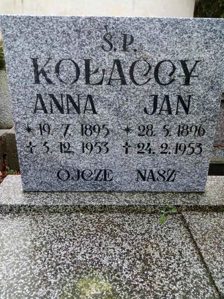 Jan Kołacki - cmentarz parafialny we Wrześni (zdjęcie udostępnił Remigiusz Maćkowiak)