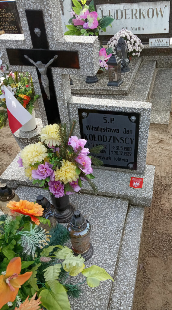 Jan Kołodzinski - cmentarz w Orzechowie (zdjęcie udostępnił Remigiusz Maćkowiak)