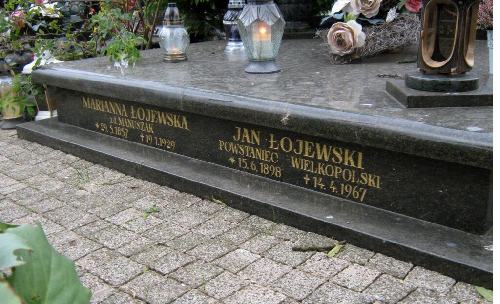 Jan Łojewski - cmentarz parafialny we Wrześni (zdjęcie udostępnił Remigiusz Maćkowiak)