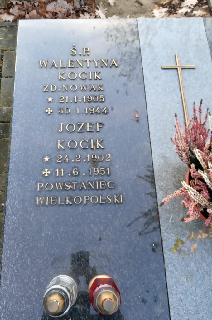 Józef Kocik - cmentarz parafialny we Wrześni (zdjęcie udostępnił Remigiusz Maćkowiak)