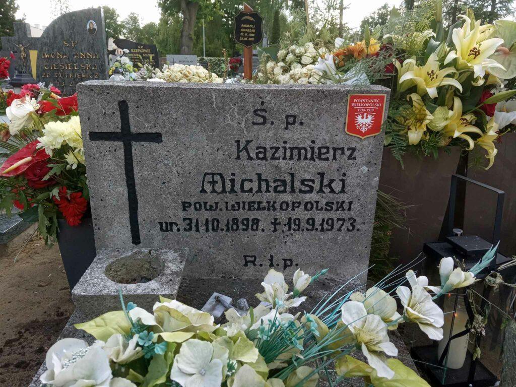 Kazimierz Michalski - cmentarz komunalny we Wrześni (zdjęcie udostępnił Remigiusz Maćkowiak)