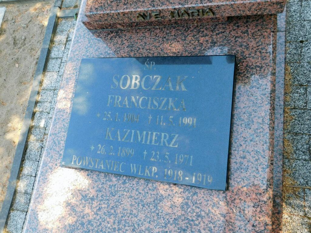 Kazimierz Sobczak - cmentarz komunalny we Wrześni (zdjęcie udostępnił Remigiusz Maćkowiak)