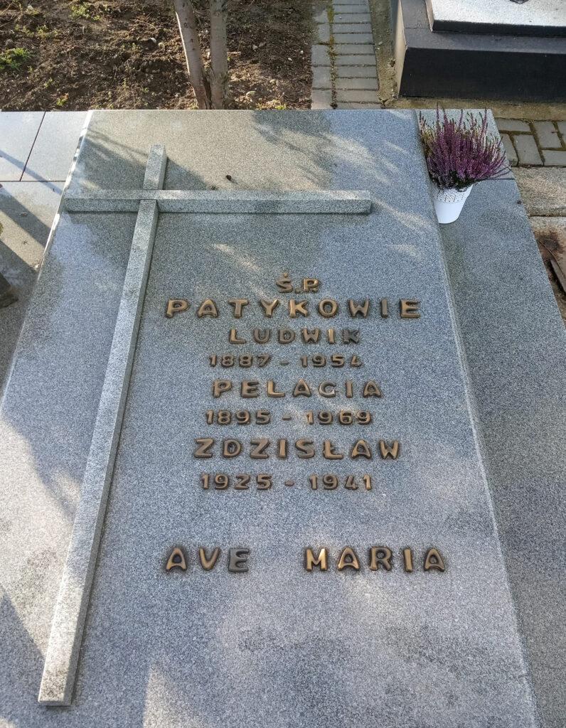 Ludwik Patyk - cmentarz parafialny we Wrześni (zdjęcie udostępnił Remigiusz Maćkowiak)