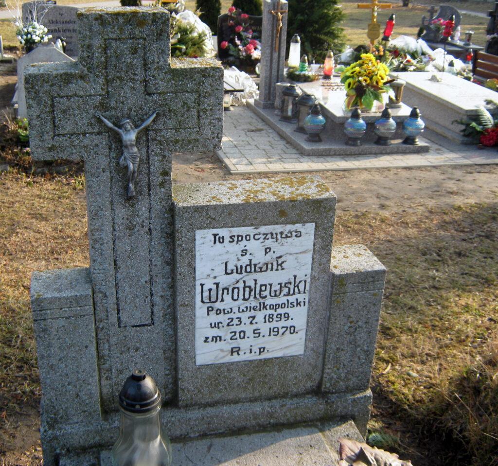 Ludwik Wróblewski - cmentarz parafialny we Wrześni (zdjęcie udostępnił Remigiusz Maćkowiak)