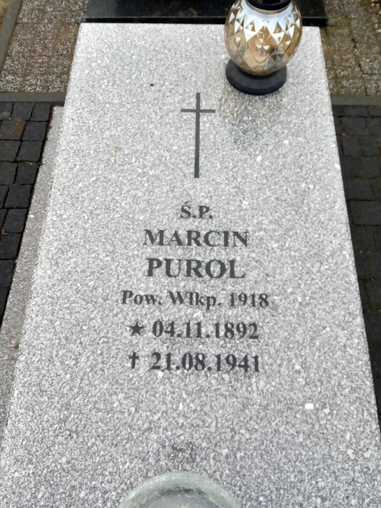 Marcin Purol - cmentarz parafialny we Wrześni (zdjęcie udostępnił Remigiusz Maćkowiak)