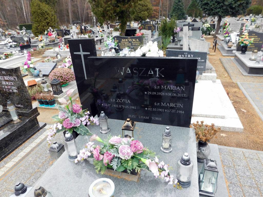 Marcin Waszak - cmentarz komunalny we Wrześni (zdjęcie udostępnił Remigiusz Maćkowiak)