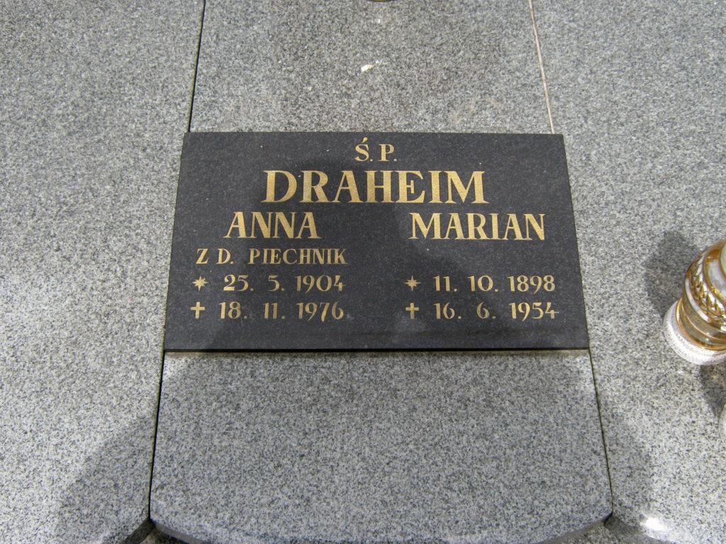 Marian Draheim - cmentarz parafialny w Marzeninie (zdjęcie udostępnił Remigiusz Maćkowiak)