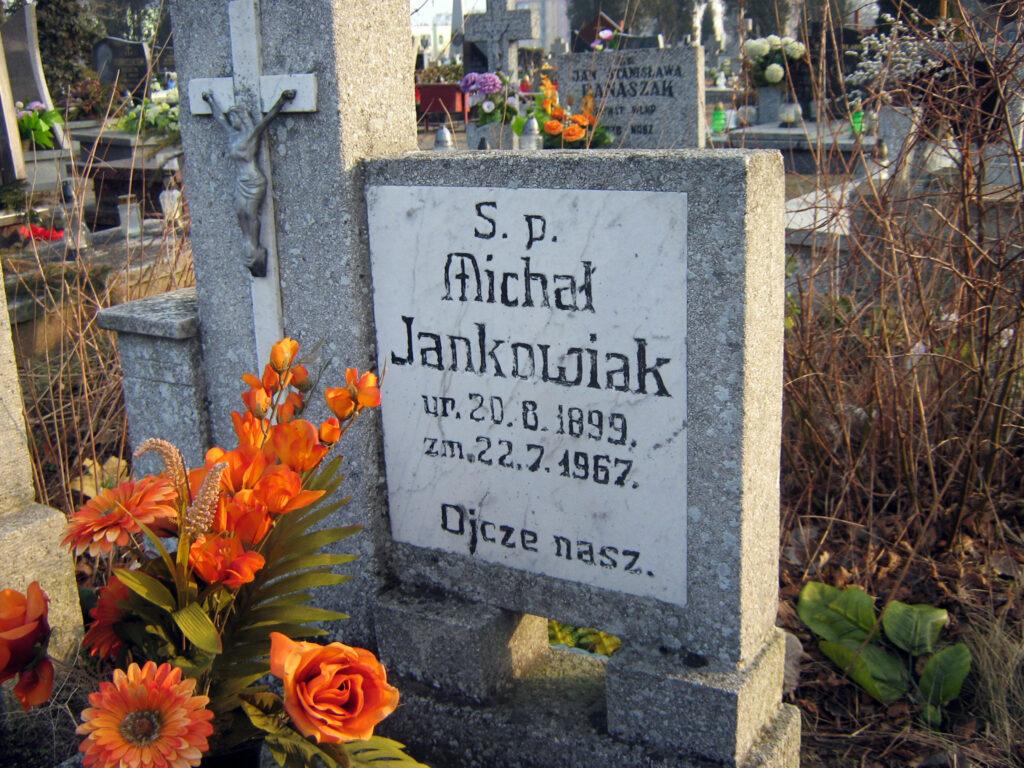 Michał Jankowiak - cmentarz parafialny we Wrześni (zdjęcie udostępnił Remigiusz Maćkowiak)