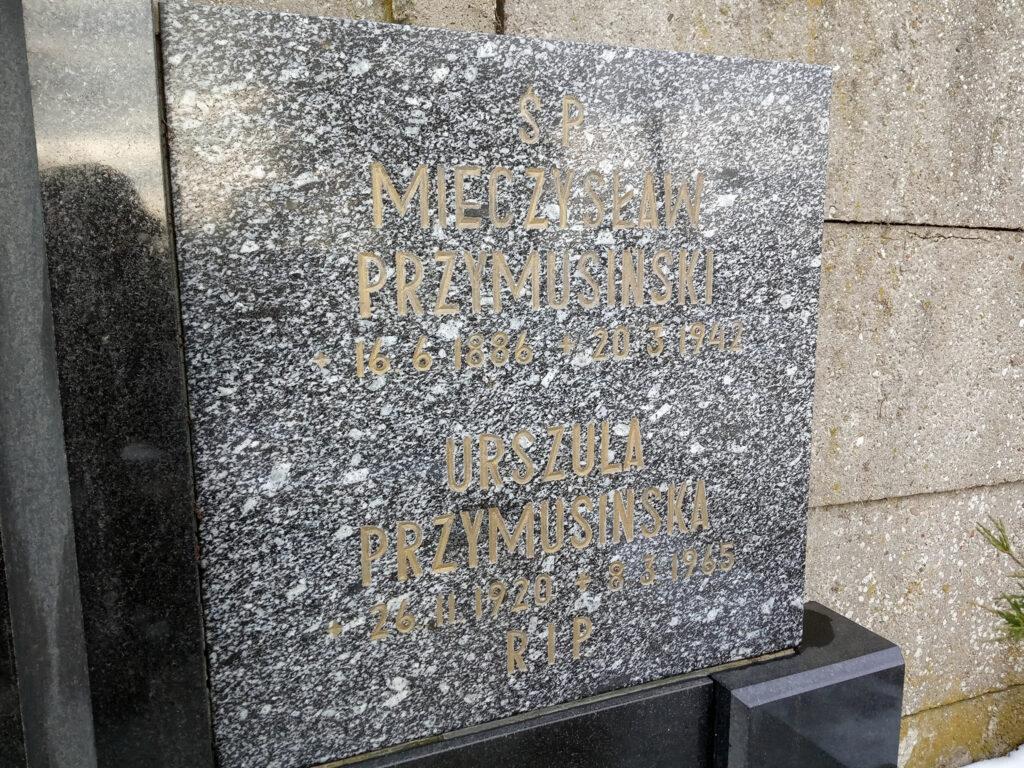 Mieczysław Przymusiński - cmentarz parafialny we Wrześni (zdjęcie udostępnił Remigiusz Maćkowiak)