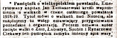 Roman Kaczmarek - Orędownik Wrzesiński rok 1930
