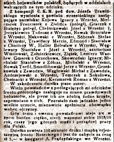 Roman Kaczmarek - Orędownik Wrzesiński  nr 85 z dnia 26.07.1930