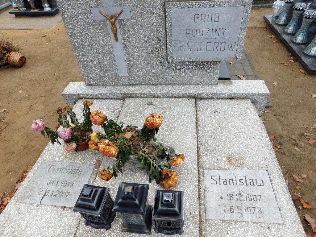 Stanisław Fengler - cmentarz komunalny we Wrześni (zdjęcie udostępnił Remigiusz Maćkowiak)