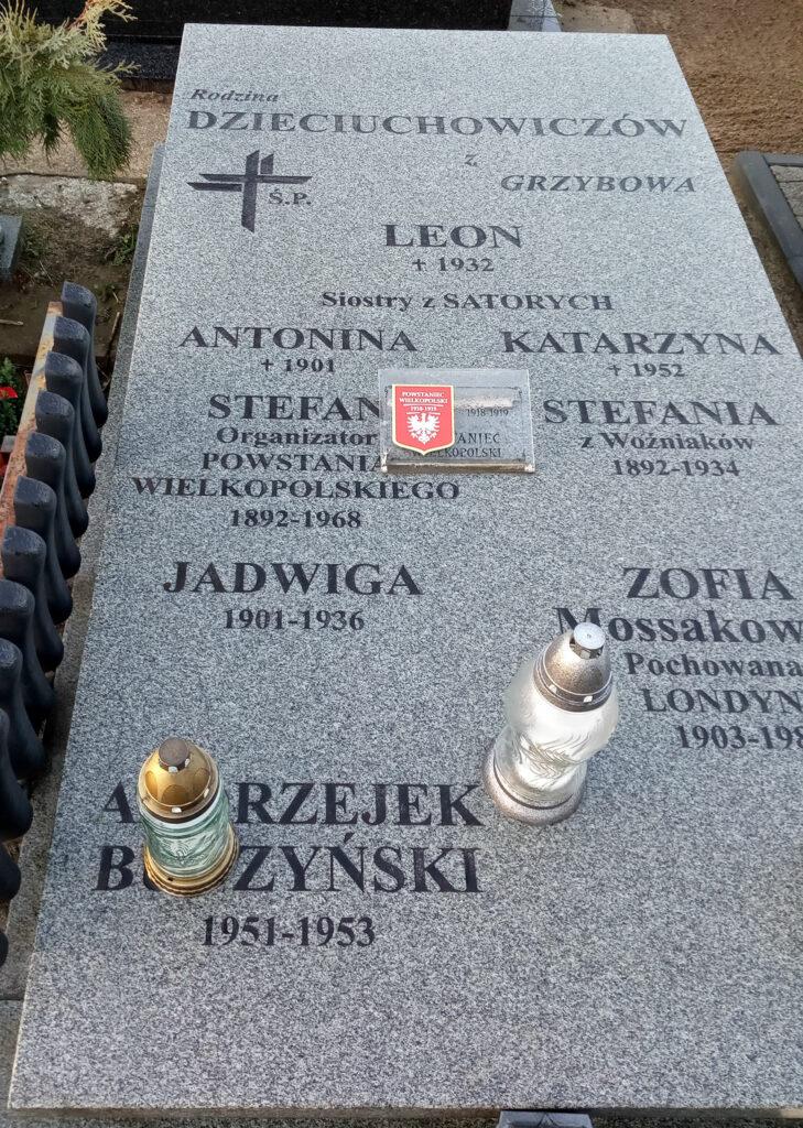 Stefan Dzieciuchowicz - cmentarz parafialny we Wrześni (zdjęcie udostępnił Remigiusz Maćkowiak)