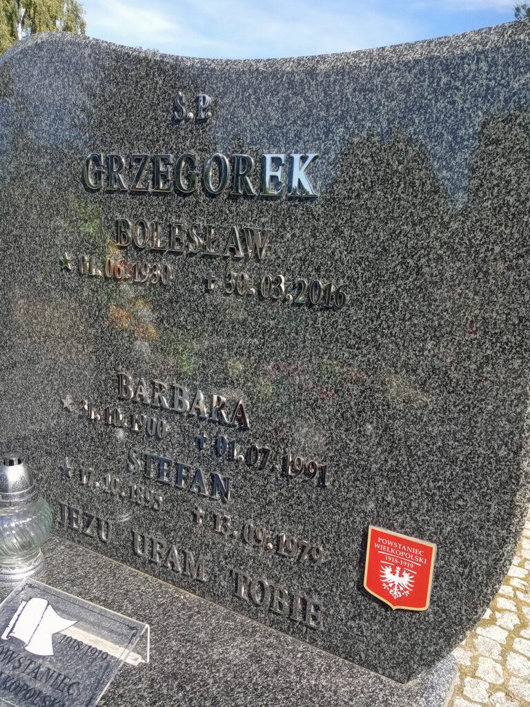 Stefan Grzegorek - cmentarz komunalny we Wrześni (zdjęcie udostępnił Remigiusz Maćkowiak)
