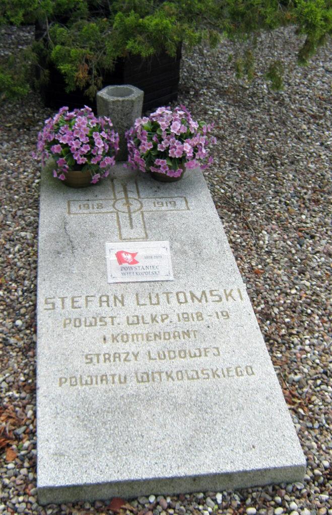 Stefan Lutomski - cmentarz w Grzybowie (zdjęcie udostępnił Remigiusz Maćkowiak)