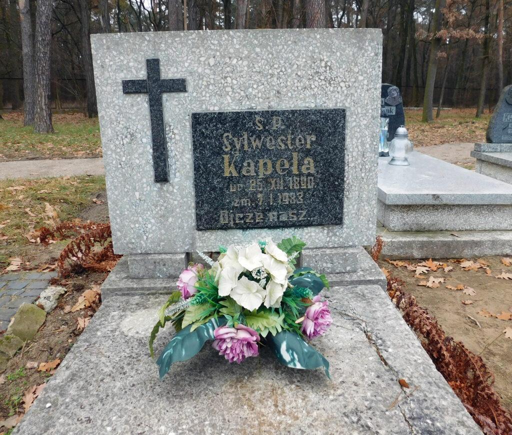 Sylwester Kapela - cmentarz komunalny we Wrześni (zdjęcie udostępnił Remigiusz Maćkowiak)