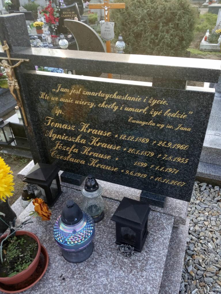 Tomasz Krause - cmentarz parafialny we Wrześni (zdjęcie udostępnił Remigiusz Maćkowiak)
