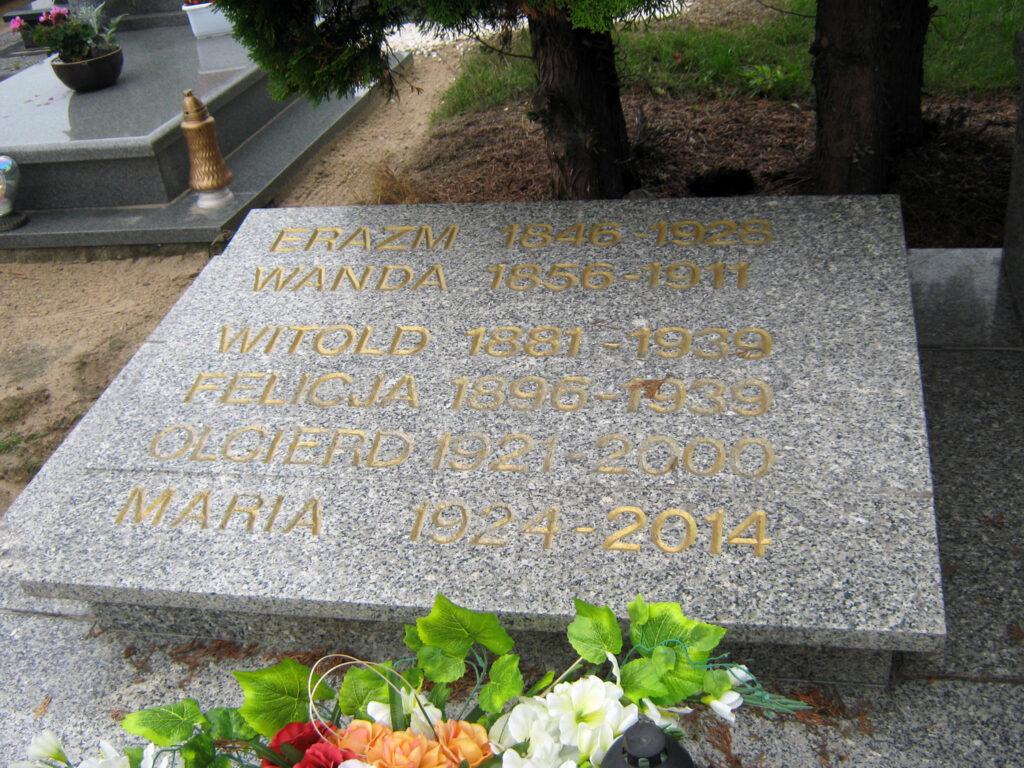 Witold Brzeski - cmentarz parafialny w Jarząbkowie (zdjęcie udostępnił Remigiusz Maćkowiak)