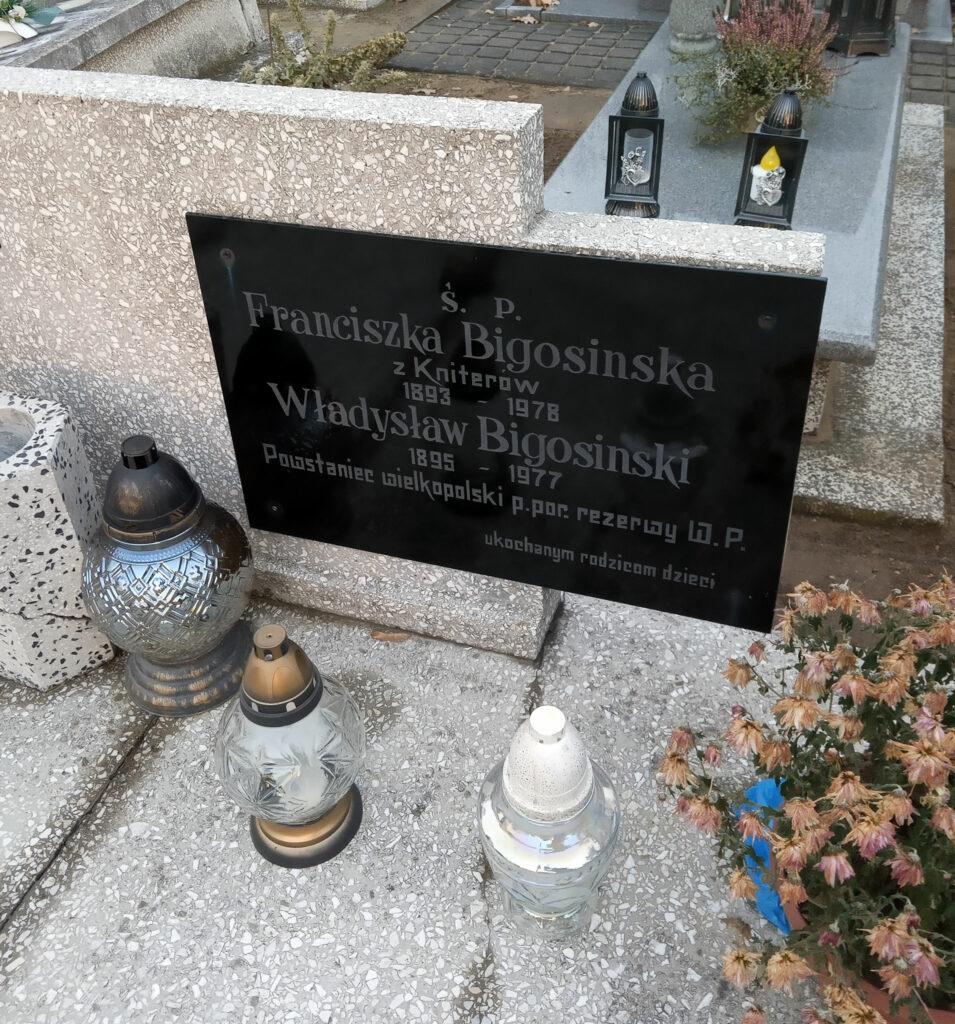 Władysław Bigosiński -  cmentarz komunalny we Wrześni (zdjęcie udostępnił Remigiusz Maćkowiak)