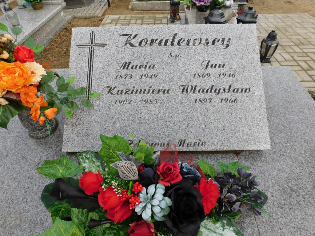 Władysław Koralewski - cmentarz komunalny we Wrześni (zdjęcie udostępnił Remigiusz Maćkowiak)