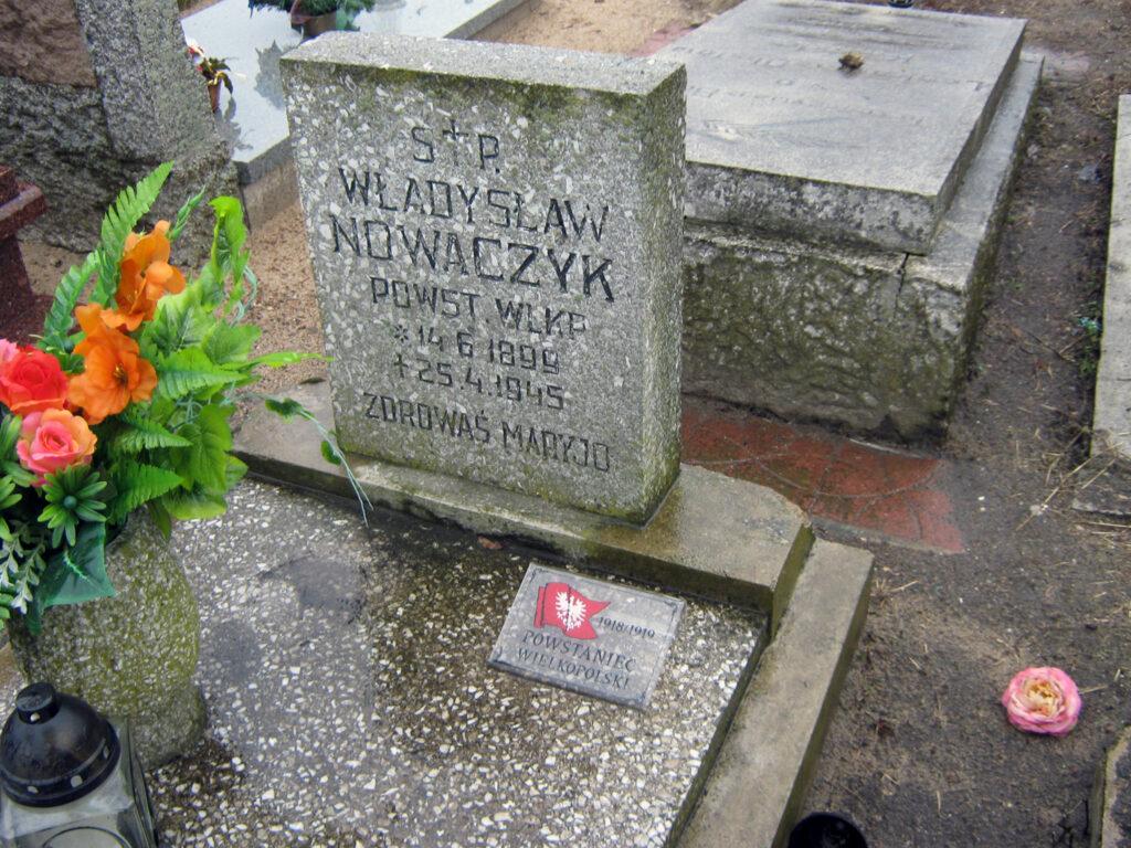 Władysław Nowaczyk - cmentarz parafialny we Wrześni (zdjęcie udostępnił Remigiusz Maćkowiak)