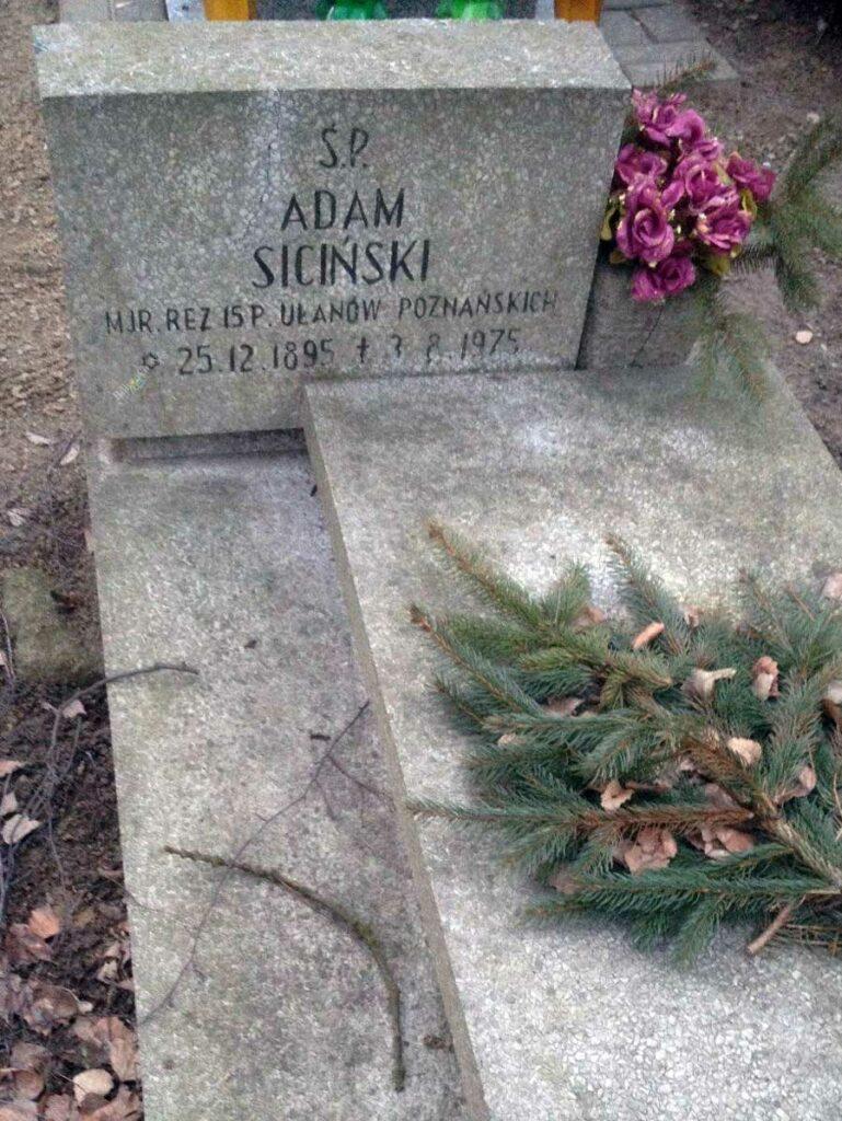 Adam Siciński - cmentarz Górczyński w Poznaniu